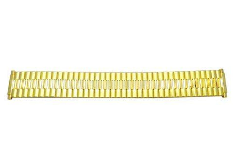 Bandino Brushed And Polished Gold Tone 15-22mm Expansion Watch Band