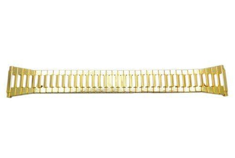 Bandino Polished Gold Tone 15-22mm Expansion Watch Band
