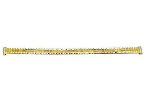 Bandino Ladies Petite Polished Gold Tone 8-10mm Expansion Watch Band