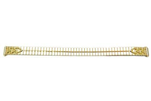 Bandino Ladies Polished Gold Tone 9-12mm Expansion Watch Band