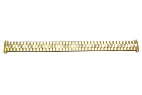 Bandino Ladies Polished Gold Tone 12-16mm Expansion Watch Band