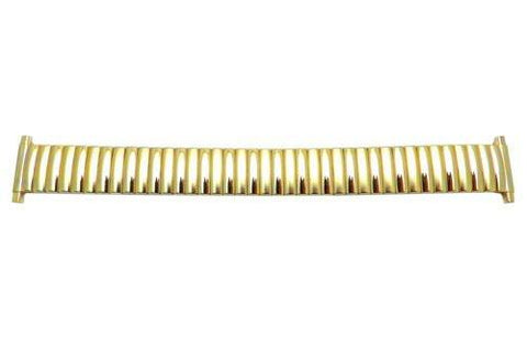 Bandino Brushed And Polished Gold Tone 16-23mm Expansion Watch Band