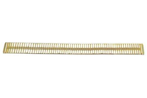 Bandino Ladies Slim Polished Gold Tone 11-14mm Expansion Watch Band