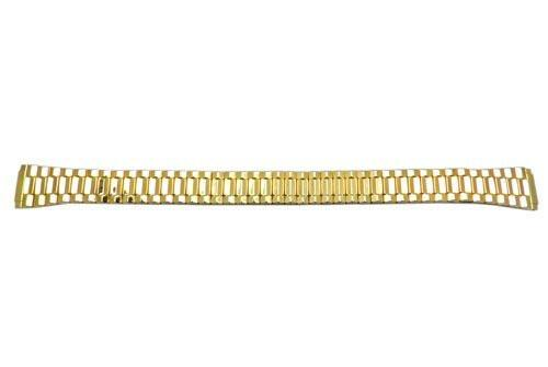 Bandino Ladies Polished Gold Tone Tapered 12-16mm Expansion Watch Band