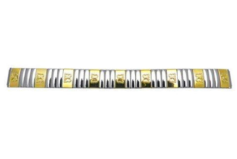 Bandino Ladies Polished Dual Tone Butterfly Detail 12-16mm Expansion Watch Band