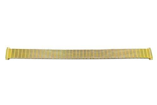 Bandino Ladies Polished Gold Tone 10-14mm Expansion Watch Band