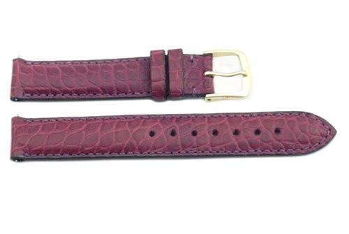 Hadley Roma Purple Genuine Alligator Ladies Leather Watch Strap