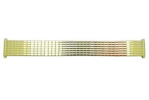 Bandino Polished Gold Tone 18-23mm Expansion Watch Band
