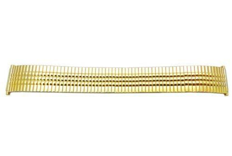 Bandino Slim Brushed And Polished Gold Tone 17-23mm Expansion Watch Band