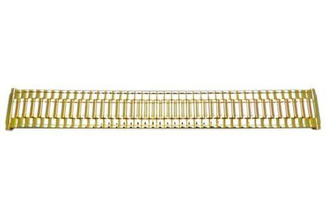 Bandino Polished Gold Tone 16-22mm Expansion Watch Band