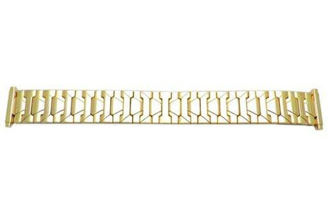 Bandino Brushed And Polished Gold Tone 18-23mm Expansion Watch Band