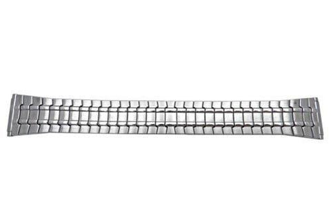 Bandino Brushed And Polished Stainless Steel Tapered 18-23mm Expansion Watch Band