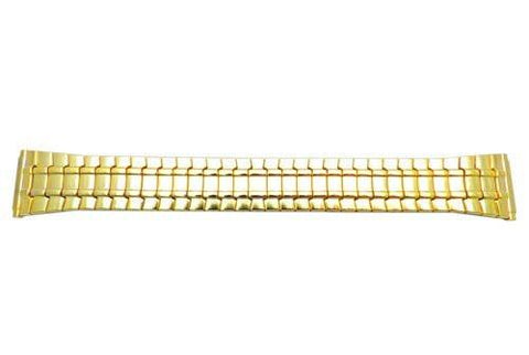 Bandino Polished Gold Tone Tapered 18-23mm Expansion Watch Band