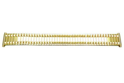 Bandino Polished Gold Tone Pointy Rail Design 18-23mm Expansion Watch Band