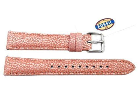 Fossil Pink Soft Florence Leather 16mm Watch Strap
