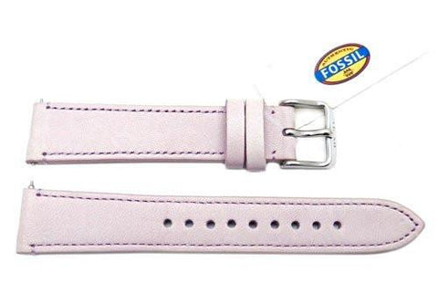 Fossil Lavender Genuine Leather 18mm Watch Strap