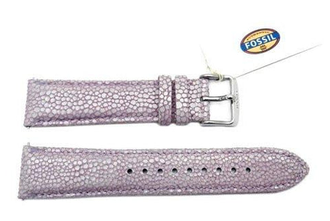 Fossil Lavender Soft Cecile Leather 20mm Watch Strap