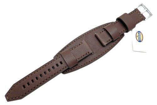Fossil Brown Genuine Smooth Heirloom Leather 22mm Wide Watch Cuffband
