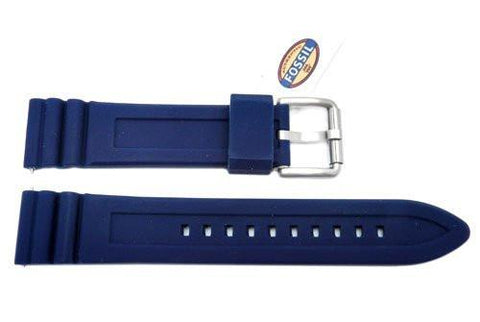 Fossil Defender Series Blue Silicone 20mm Watch Strap
