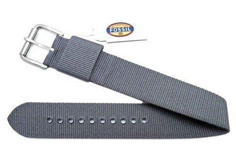 Fossil Defender Series Gray Nylon 20mm Watch Strap