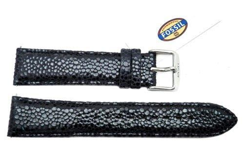 Fossil Black Soft Cecile Leather 20mm Watch Strap
