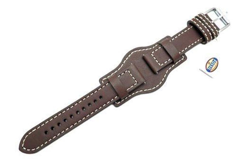 Fossil Defender Series Brown Leather 20mm Watch Cuffband
