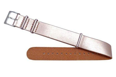 Fossil Defender Series Metallic Rose Leather 18mm Watch Strap