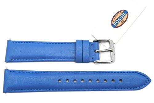 Fossil Marina Blue Genuine Leather 18mm Watch Strap