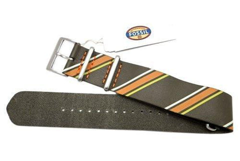 Fossil Colorful Stripe Genuine Leather 24mm Watch Strap