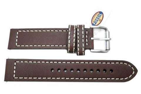 Fossil Defender Series Brown Genuine Leather 20mm Watch Band