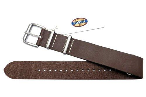 Fossil Defender Series Brown Leather 20mm Watch Strap