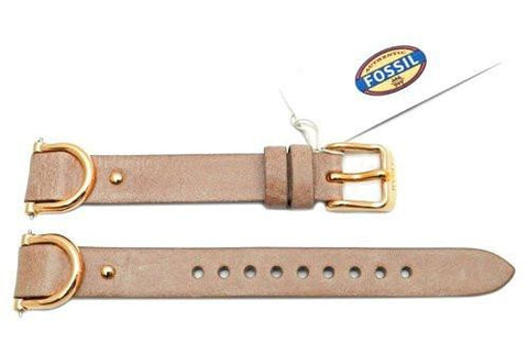 Fossil Tan Smooth Leather Biker Style 18mm Watch Strap