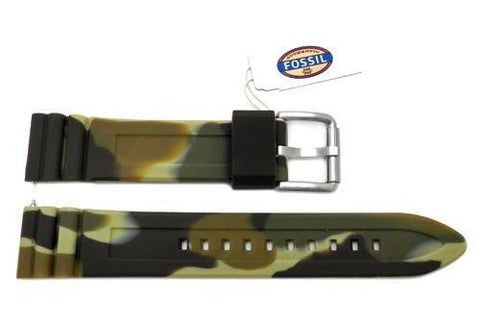 Fossil Defender Series Green Camo Silicone 20mm Watch Strap