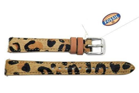 Fossil Cheetah Print Genuine Leather 14mm Watch Strap