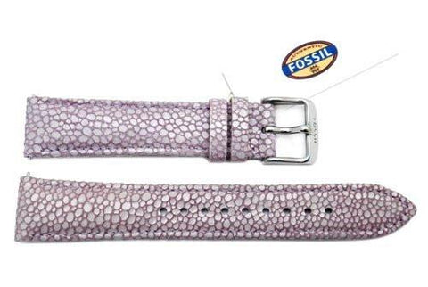 Fossil Lavender Soft Florence Leather 18mm Watch Strap