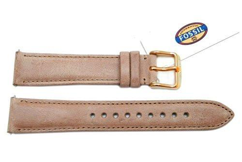 Fossil Tan Genuine Leather 18mm Watch Strap