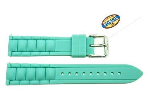 Fossil Mint Silicone Link Style 18mm Watch Band