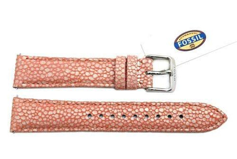 Fossil Pink Soft Florence Leather 18mm Watch Strap