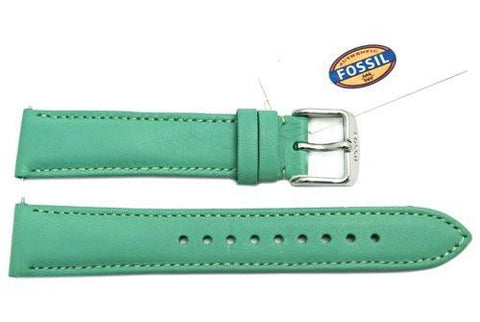 Fossil Winter Green Genuine Leather 18mm Watch Strap