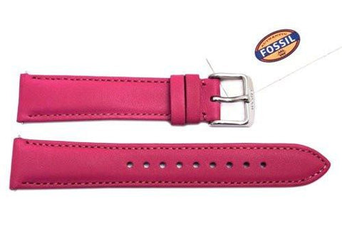 Fossil Fuchsia Genuine Leather 18mm Watch Strap