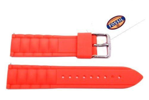 Fossil Salmon Silicone Link Style 20mm Watch Band