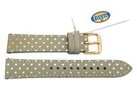 Fossil Sage Genuine Leather Polka Dot Design 18mm Watch Strap