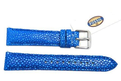 Fossil Blue Soft Florence Leather 18mm Watch Strap