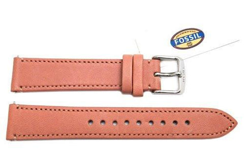 Fossil Pink Genuine Leather 18mm Watch Strap