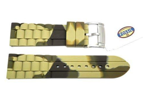 Fossil Camo Silicone 24mm Watch Strap