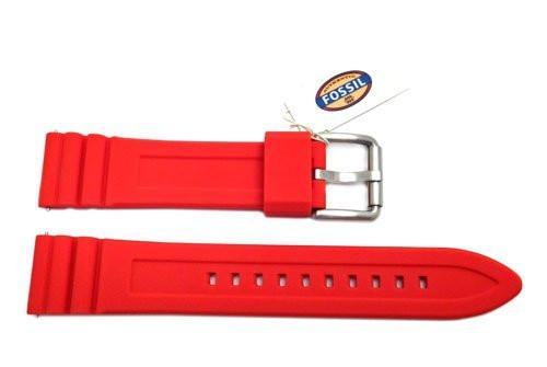 Fossil Defender Series Red Silicone 20mm Watch Strap