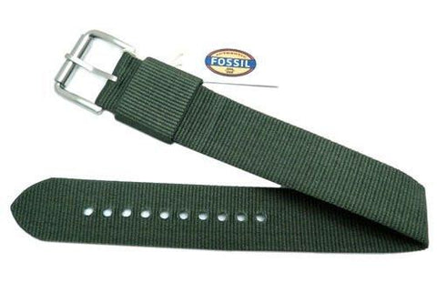 Fossil Defender Series Green Nylon 20mm Watch Strap