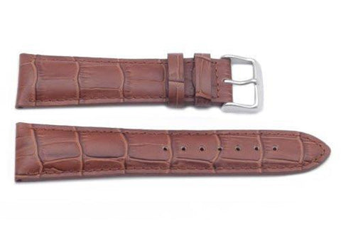 Hadley Roma Alligator Grain Tan Heavy Padded Long Watch Strap
