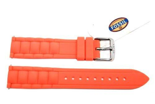 Fossil Red Silicone Link Style 18mm Watch Band