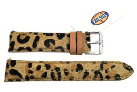 Fossil Cheetah Print Genuine Leather 20mm Watch Strap
